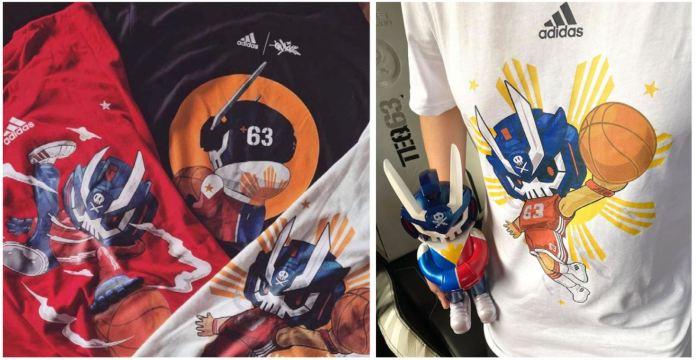 Adidas Manila-inspired shirts