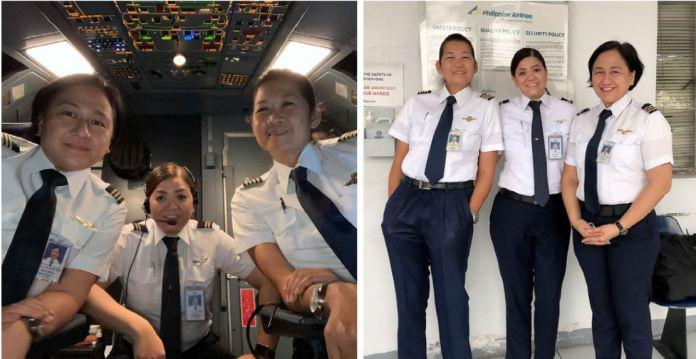 PAL all-female flight crew