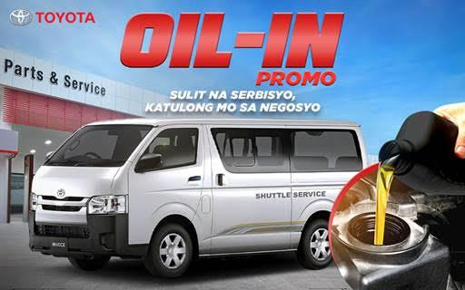 Toyota Oil-in offer