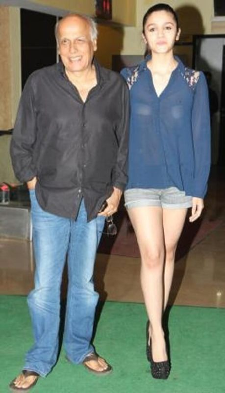 Alia Bhatt photo with Mahesh Bhatt