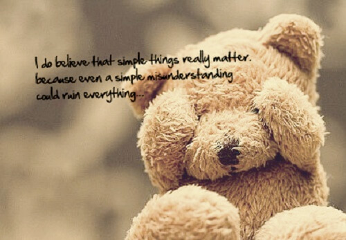 brown teddy bear quote