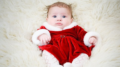 cute baby pics with red dress