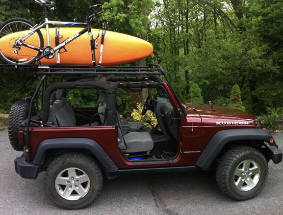 How To Carry Whitewater Kayaks On A Soft Top Jeep Wrangler Good Ole Jeep