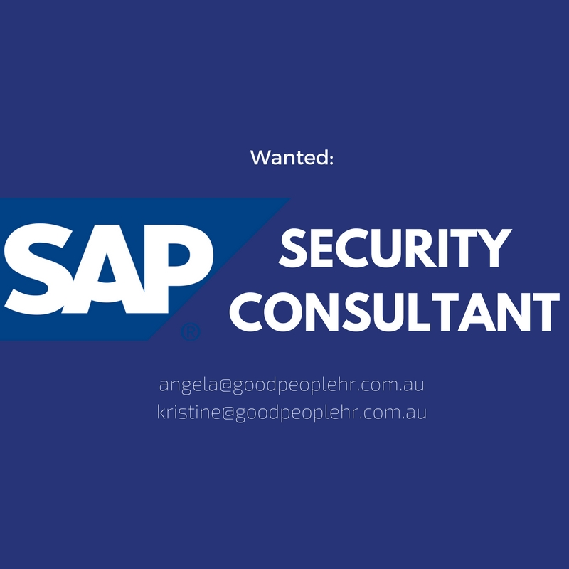 SAP Security Consultant  Expressions of Interest Job Melbourne  Good People HR