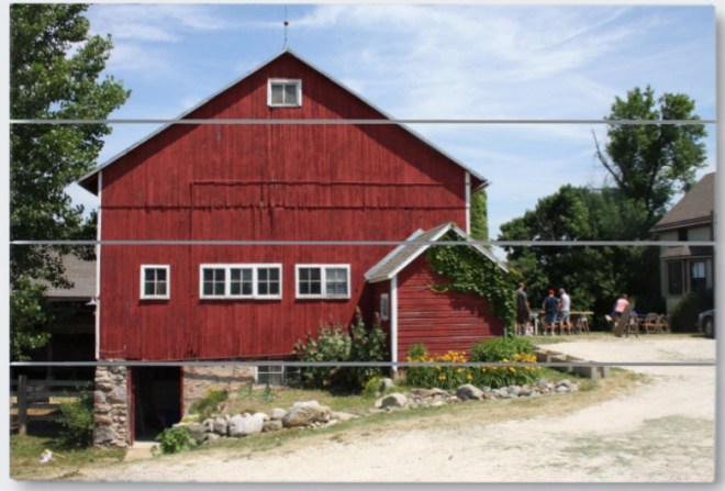 Wisconsin farm wood print