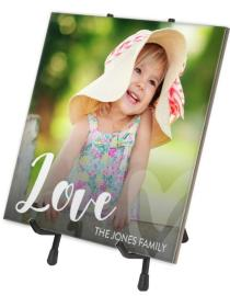 Love script photo tile