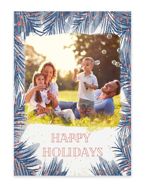 happy holidays family Christmas card