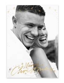 happy couple photo card