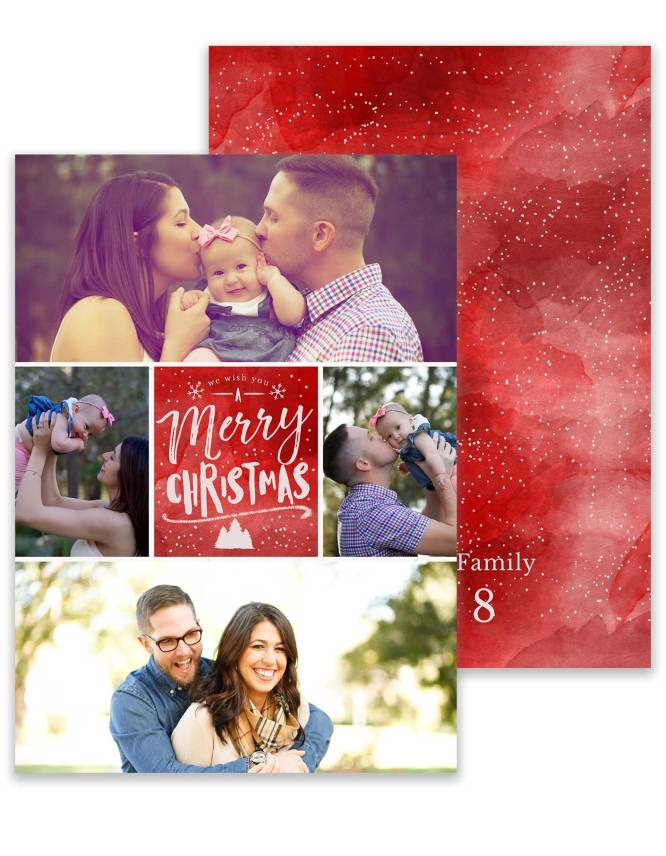 double sided photo collage christmas card