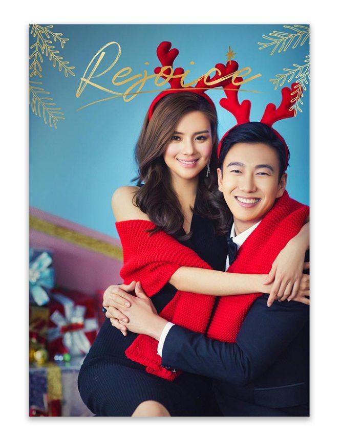 rejoice christmas greeting card design