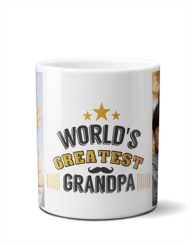 worlds greatest grandpa photo mug