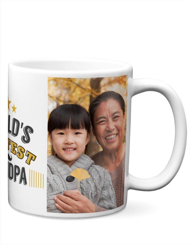 great grandpa custom photo mug