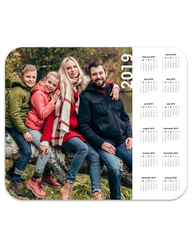 custom designed photo mouse pad calendar