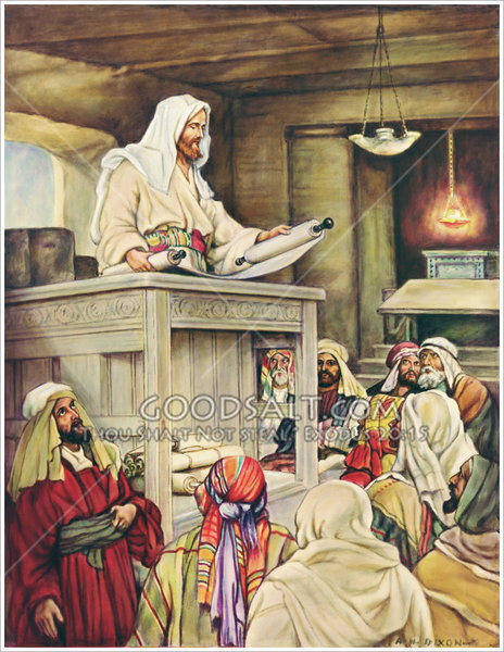 Jesus Teaches in Synagogue