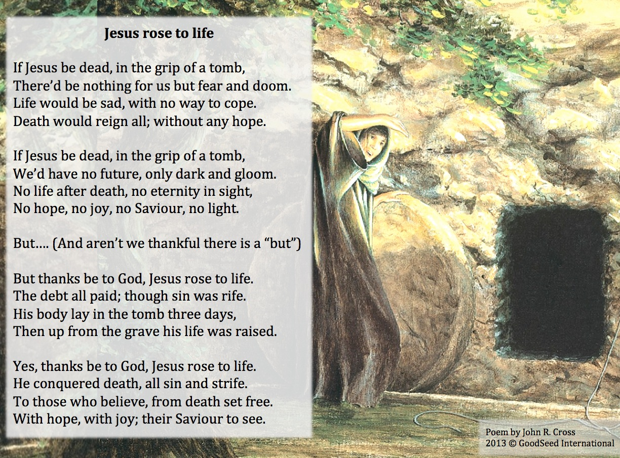 Jesus rose to life a poem for easter the goodseed blog jesus rose to life negle Images