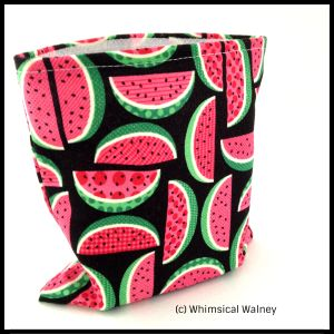 Reusable snack back watermelons