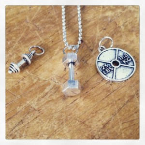 Fitness charm necklace