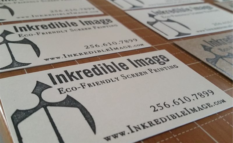 Make Custom Stamped Business Cards From Recycled Cardboard
