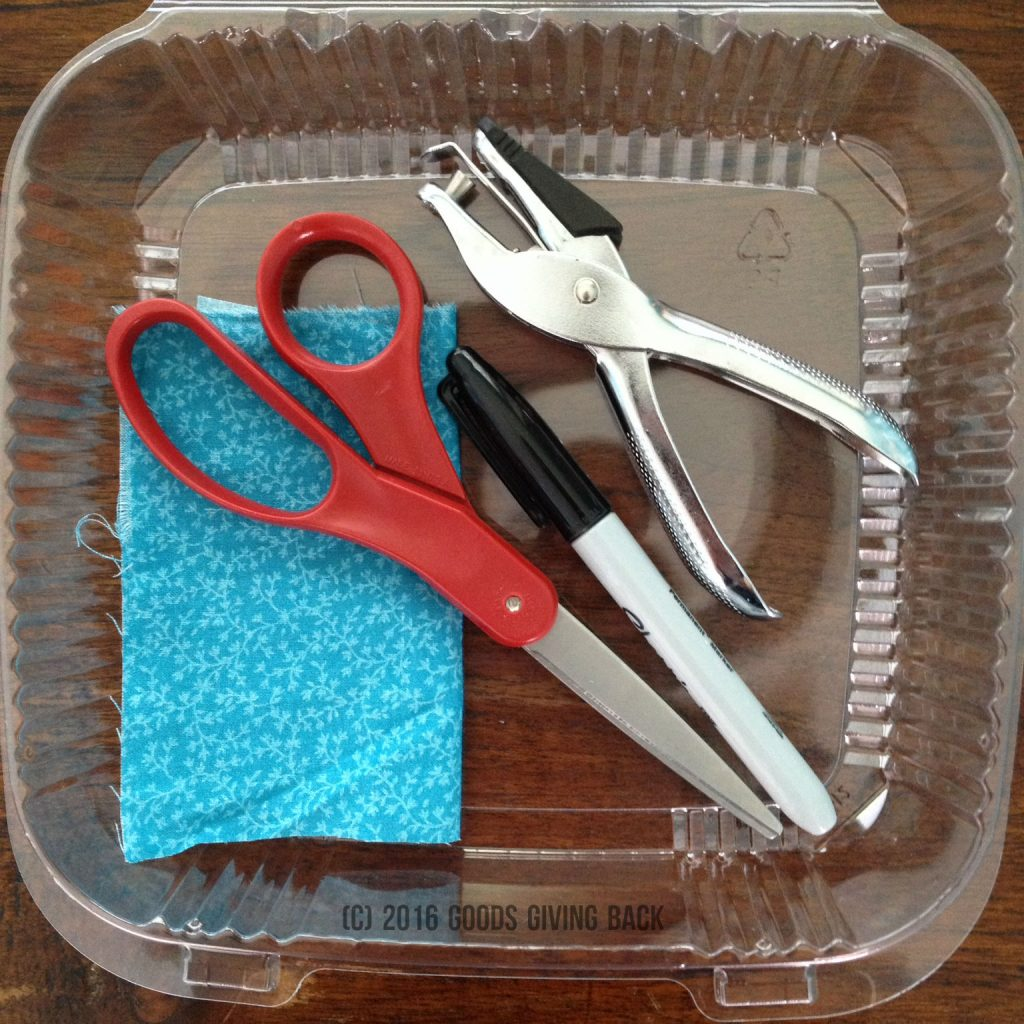 Make a luggage tag from #6 plastic