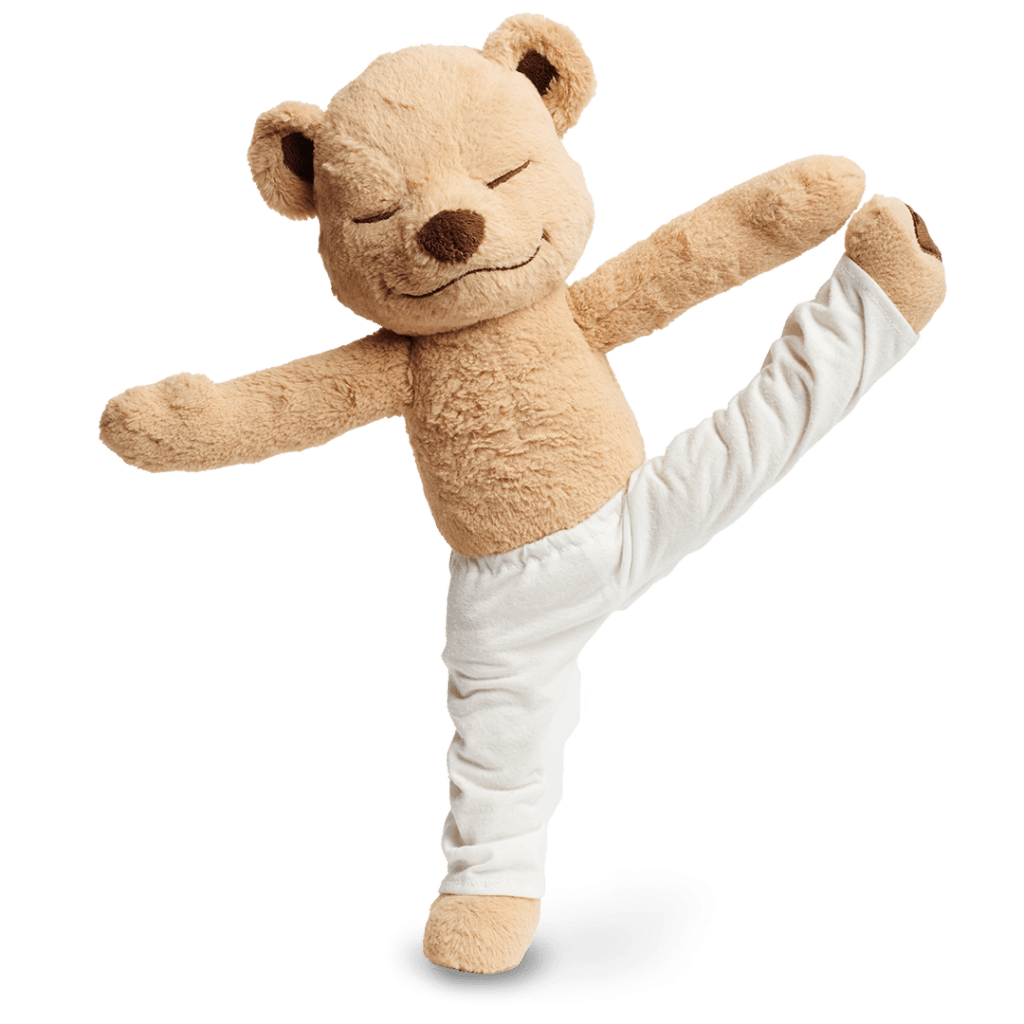 Meddy Teddy extended big toe pose