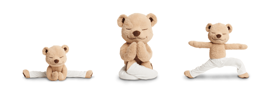 Meddy Teddy mindfulness and yoga teddy bear