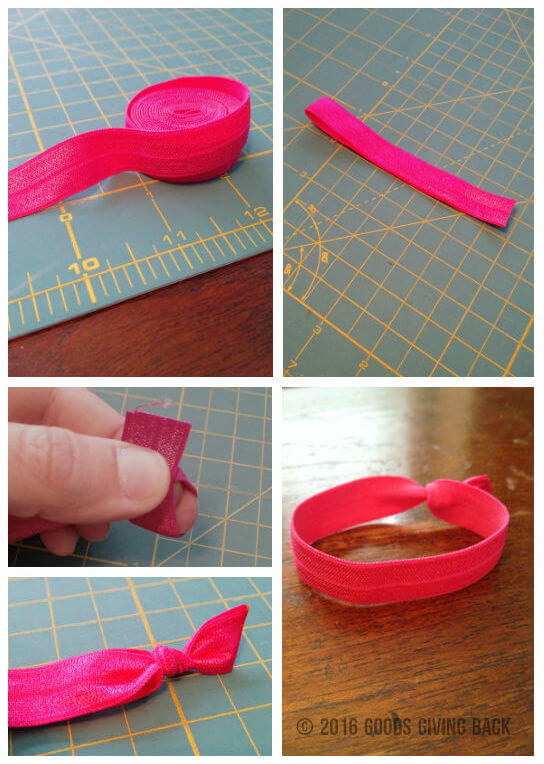 elastic hair tie process