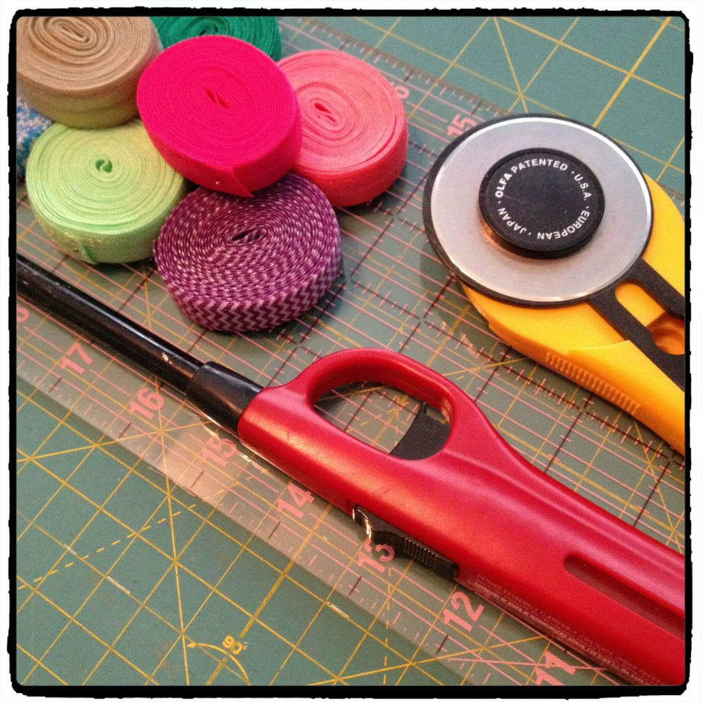 elastic hair tie materials