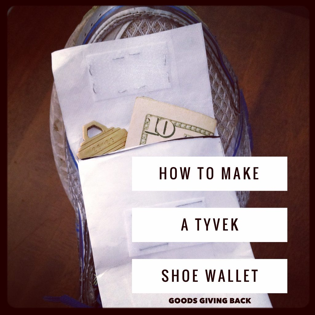How to make a no-sew stury tyvek shoe wallet