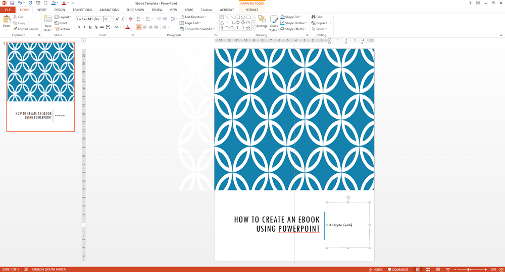 How To Create An Awesome Ebook Using Powerpoint {Part 5