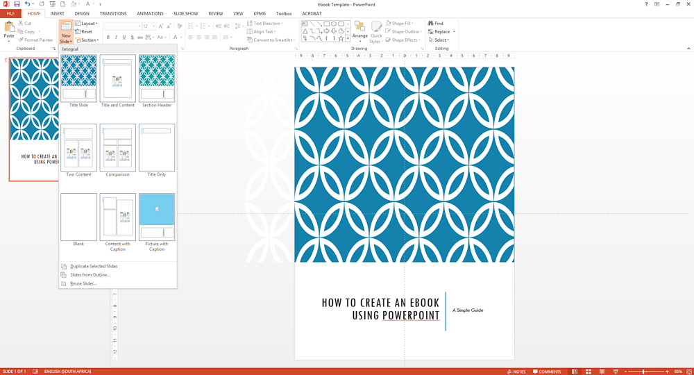 Powerpoint ebook - finish the cover