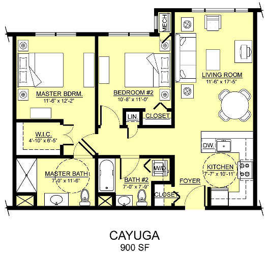 cayuga apartment assisted living floorplan good shepherd endwell - Good Shepherd Village at Endwell