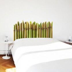 sticker tete de lit bambou
