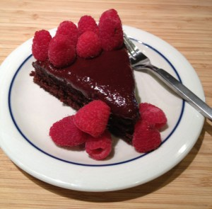 Chocolate Raspberry Frosting First Cake