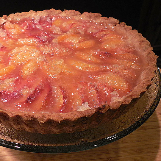 quick peach tart