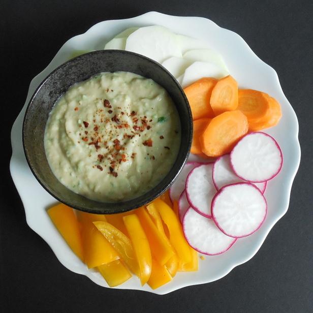 White Bean Garlic Scape Dip | Get the Good Stuff