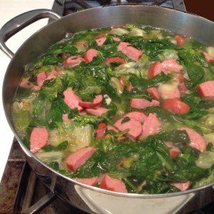 white bean escarole and sausage soup