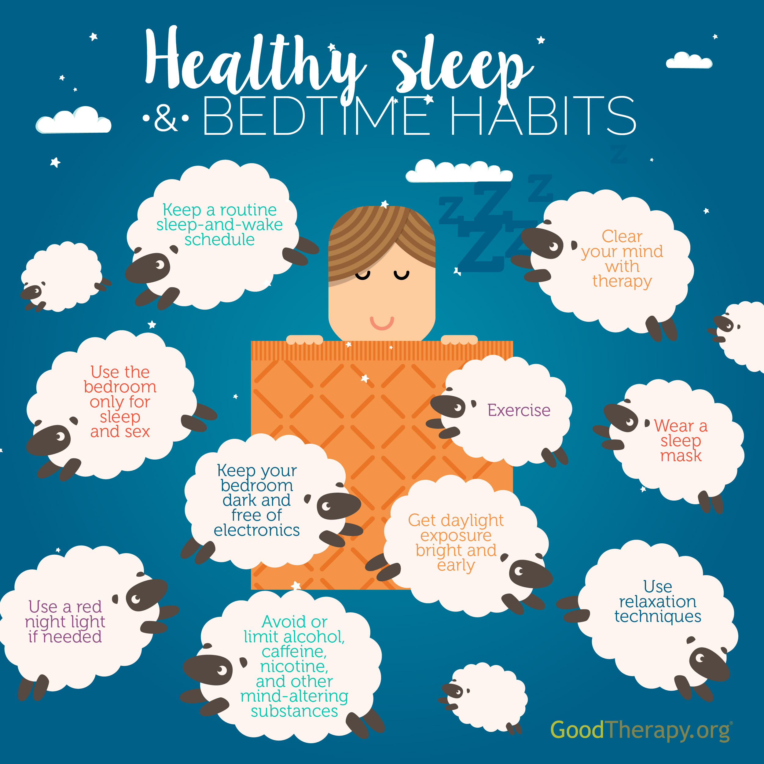 Sleep Hygiene Infographic By Goodtherapy