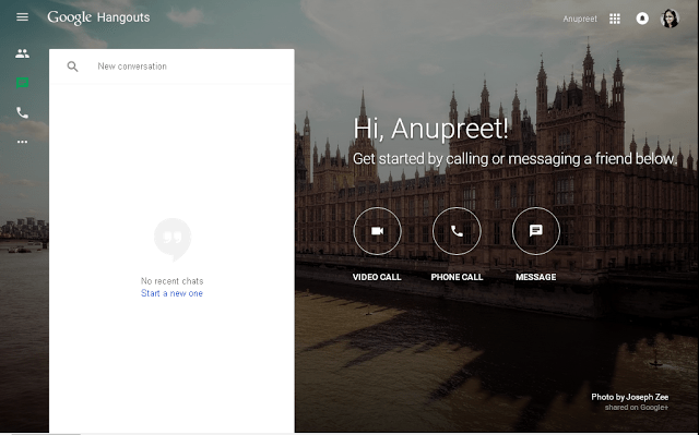 New Website for Hangouts Launched by Google