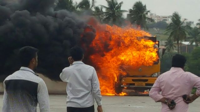 Cauvery Row Truck Set to Fire.