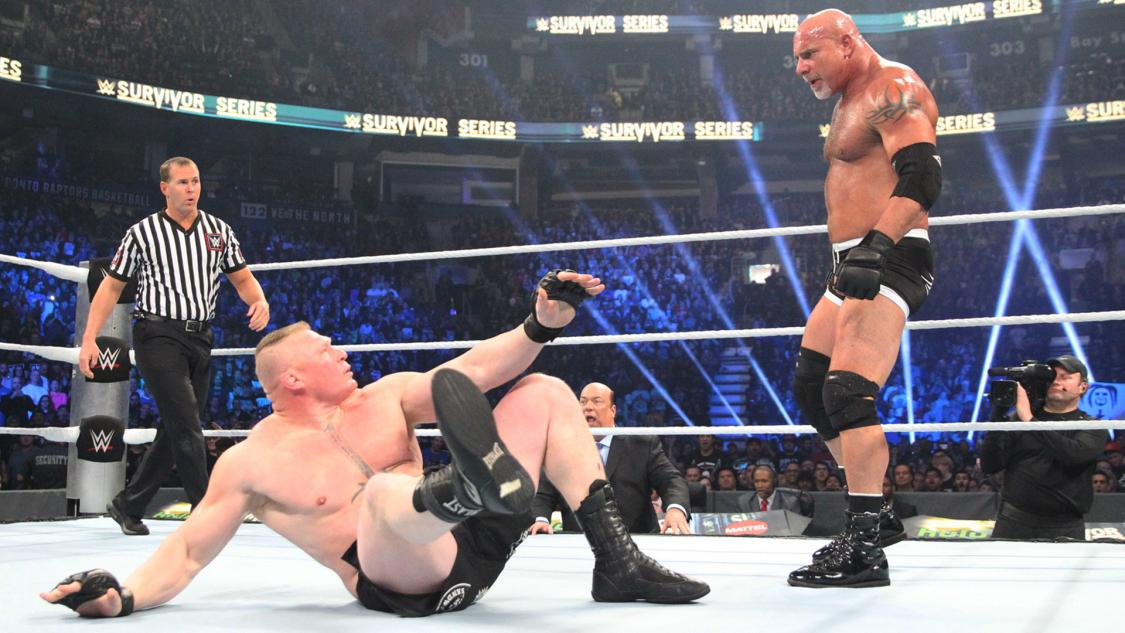 WWE Survivor Series 2016; Goldberg Claims Historic Win Against Brock Lesnar
