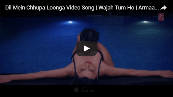 "Wajah Tum Ho's new romantic track ""Dil Mein Chhupa Loonga Video Song"" released"