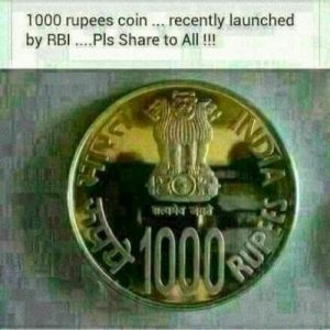 New Rs.1000 Coin