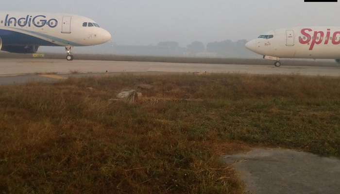 Crash Averted at IGI Airport; Plane skids on the runway in Goa