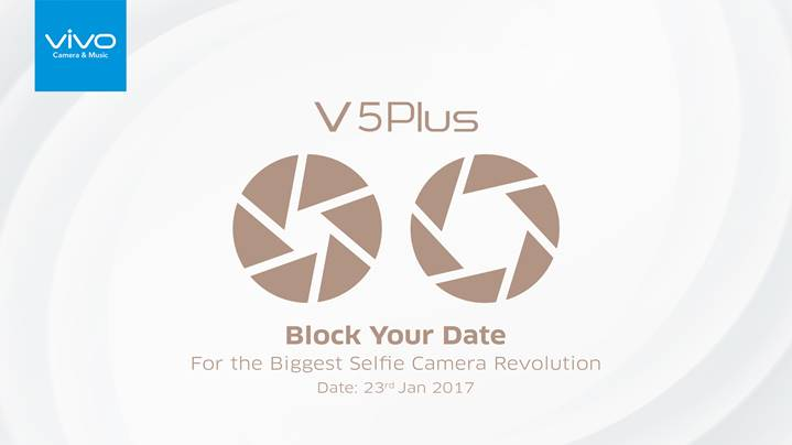 Vivo V5 Plus with Dual Front Camera to launch in India on January 23
