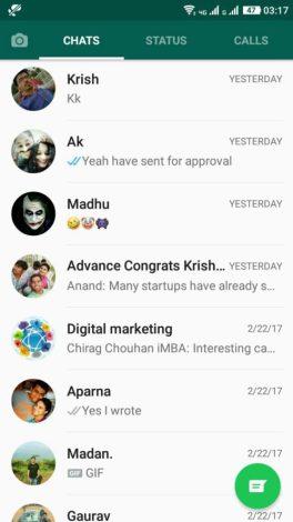 WhatsApp Stories feature