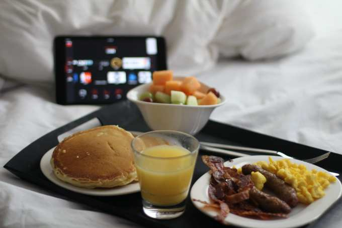 Breakfast in bed citizen m boutique hotels new york city