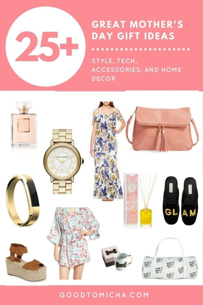 Mother's Day is almost here! 25+ easy mother's day gift ideas for stylish moms, fitness-loving moms, and to help your mom relax. All on the blog! Goodtomicha.com