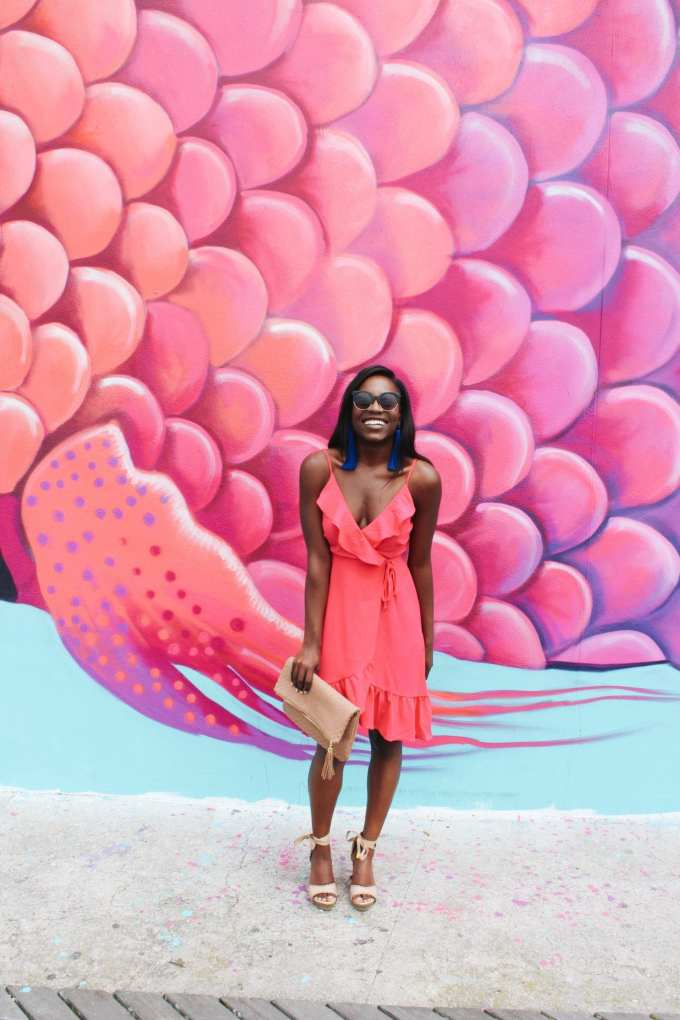 pink summer dress style and charming charlie's woven clutch // seychelles wedges // all under $100 - goodtomicha.com fashion blogger