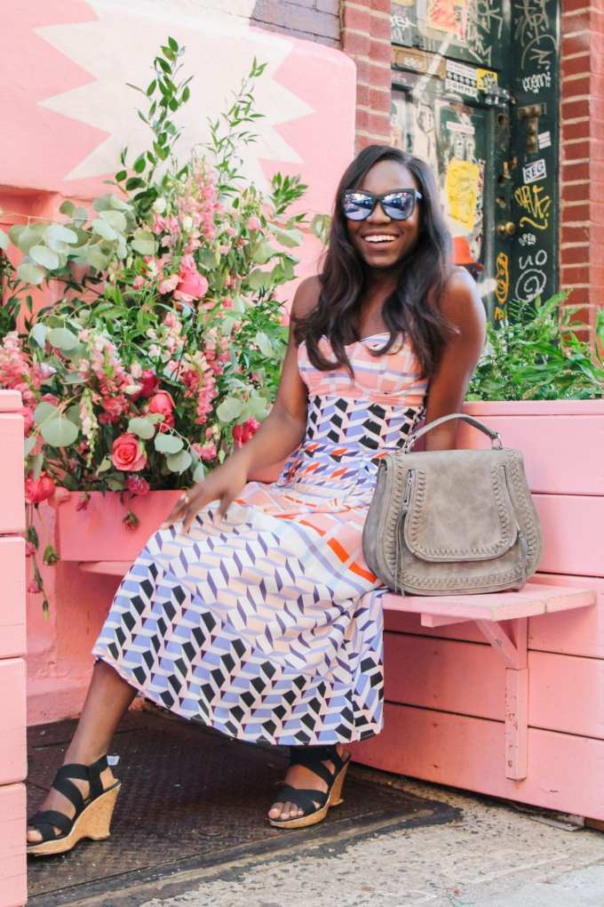 black girl blogger fashion blogger southern blogger personal brand for bloggers all pink restaurant
