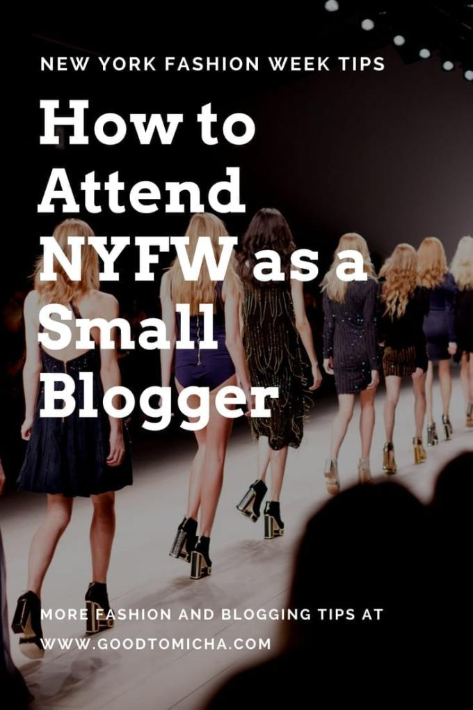 Are you a new blogger hoping to attend New York Fashion Week? While it takes hard work, it's not impossible as a small blogger! I've attended NYFW twice with under 10K followers on Instagram. Check out my tips on how to get invited to shows, pitch hotels, and more!